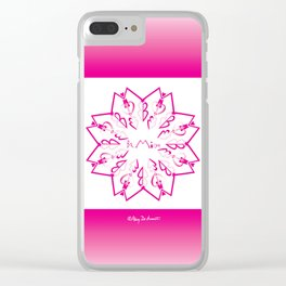 Be Mine - White/Pink Clear iPhone Case