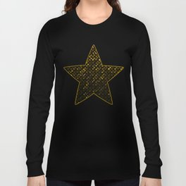 Crystal Bling Strass Gold G321 Long Sleeve T-shirt