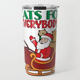 Funny Cats For Everybody Santa Claus Christmas Cute product Travel Mug