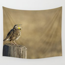 Song of a Meadowlark Wall Tapestry
