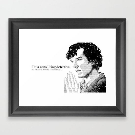The Science of Deduction Framed Art Print