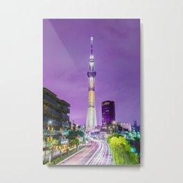The Tokyo Skytree at night Metal Print