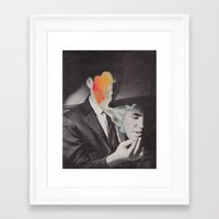 mask Framed Art Prints featuring Mask by A.T. Velazco