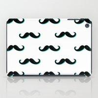 mustache iPad Cases featuring Mustache by JoanaRosaC