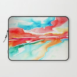 fire in the sky - beach at sunset Laptop Sleeve