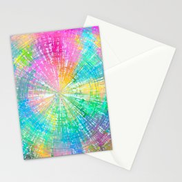 Colorful whirlpool Stationery Cards