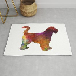Grand Griffon Vendeen in watercolor Rug