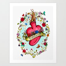 Botanical Heart Illustration Art Print