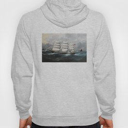 Vintage British Frigate Sailboat Painting (1881) Hoody