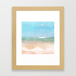 Sea and Moon Framed Art Print
