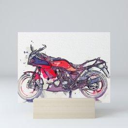 1984 Kawasaki GPZ 750 R watercolor by Ahmet Asar Mini Art Print