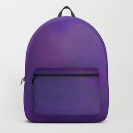Abstract Soft Watercolor Gradient Ombre Blend 14 Dark Purple and Light Purple Backpack