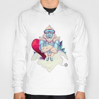 snowboard Hoodies featuring Snowboard Yeti [black background] by garciarts