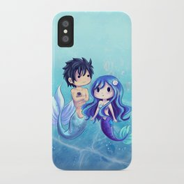Gray and Juvia Mermaids iPhone Case