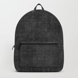 Leather in Black Backpack