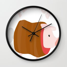 Poogies Are Friends, Not Food Wall Clock