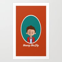 marty mcfly Art Prints featuring Marty McFly by Juliana Motzko