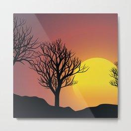 Creepy Sunset Metal Print