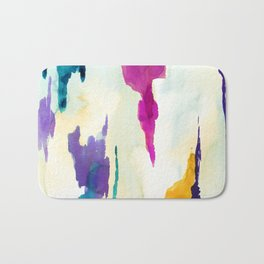 Colourful Loch Abstract Watercolor Painting Bath Mat