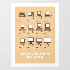 My Evolution Apple mac minimal poster Art Print