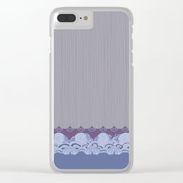 Layered Scallops and Waves Clear iPhone Case
