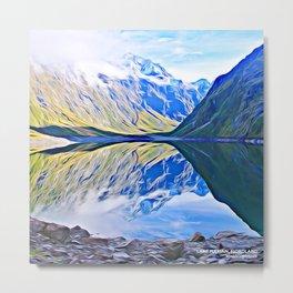 Lake Marian, Fiordland National Park, South Island, New Zealand Metal Print