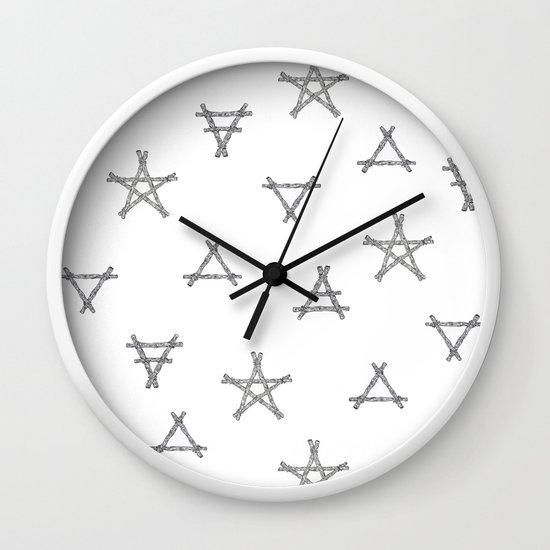 Symbols Of The Witch Wall Clock By Wildernessandwonder Society6