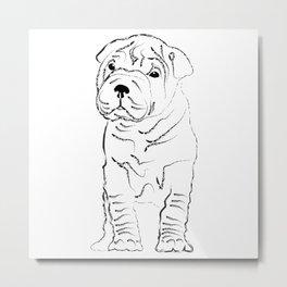 Sharpei, Dog, puppy Metal Print