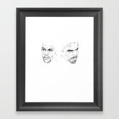 mayweather pacquiao Framed Art Print