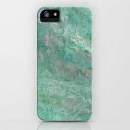 Mossy Woods Green Marble iPhone Case