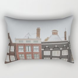"""Amsterdam Canal houses at the snow 