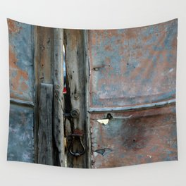 Rusty metal gate Wall Tapestry