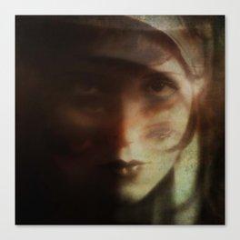Clara, in Darkness Canvas Print