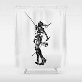 Mikasa BlackWhite Shower Curtain