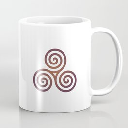 St. Patrick's Day Celtic Red Triskelion #1 Coffee Mug