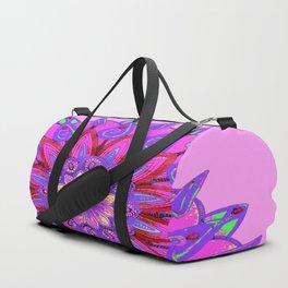 MANDALA OF PURPLE  & PINK ART DESIGN ART Duffle Bag
