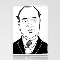 scarface Stationery Cards featuring Al 'Scarface' Capone by Danny Abbott