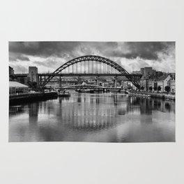 River Tyne Bridges Rug