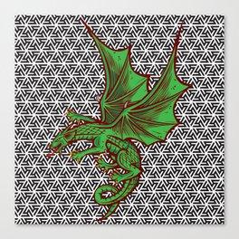 DRAGON MAZE Canvas Print