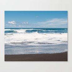 Rocking ocean Canvas Print
