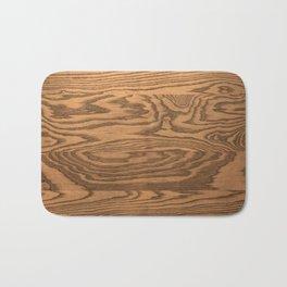 Wood 5, heavily grained wood Horizontal grain Bath Mat
