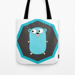 Golang Go cute Squirrel baby programming Mouse sticker Tote Bag