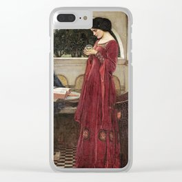 John William Waterhouse - The crystal ball Clear iPhone Case