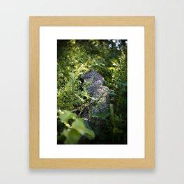 Overgrown Log Framed Art Print