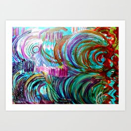FLOW WITH THE GO Art Print
