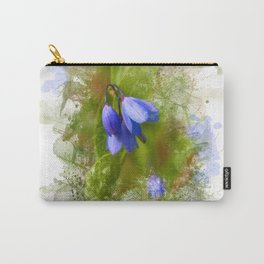 Pretty bluebells on white Carry-All Pouch