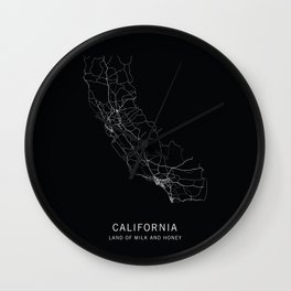 California State Road Map Wall Clock