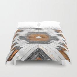 Urban Tribal Pattern 8 - Aztec - Wood Duvet Cover