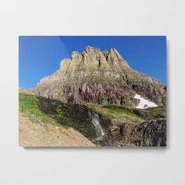 Clements Mountain Glacier National Park Nature Photography LCApplingPhotoArt Metal Print