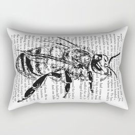 Honey Bee Book Page Rectangular Pillow
